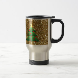Christmas Tree gold Glitter Coffee Mugs