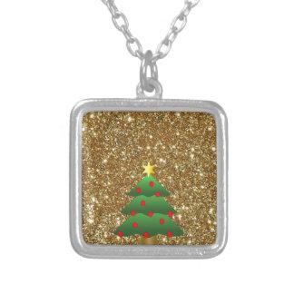 Christmas Tree gold Glitter Custom Jewelry