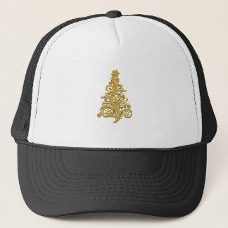christmas tree golden decoration trucker hat