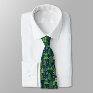 Christmas Tree Graphic Print Tie