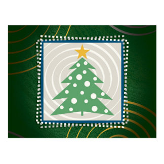 Christmas Tree | Green Decorative Postcard