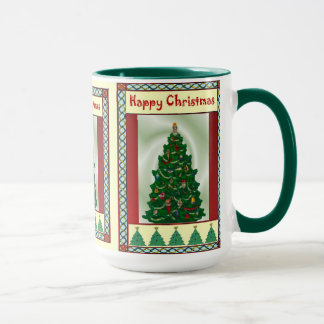 Christmas tree, happy Christmas Mug