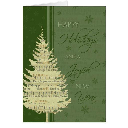 Christmas Tree Happy Holidays Christmas Card