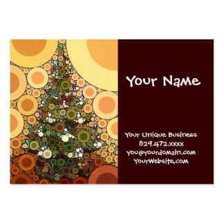 Christmas Tree Happy Holidays Circle Mosaic Large Business Cards (Pack Of 100)