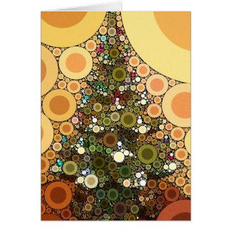 Christmas Tree Happy Holidays Circle Mosaic Greeting Card