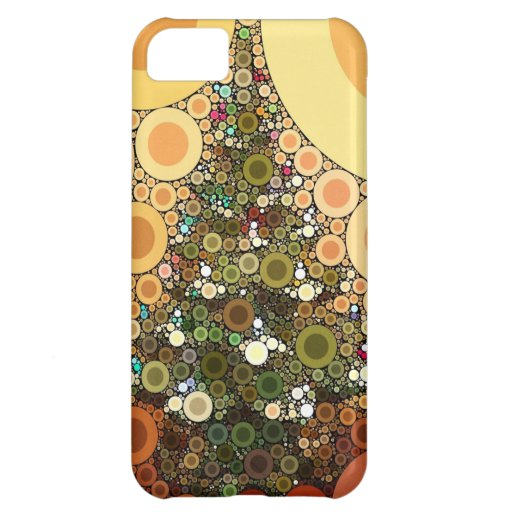 Christmas Tree Happy Holidays Circle Mosaic iPhone 5C Covers