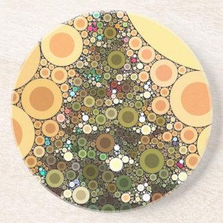 Christmas Tree Happy Holidays Circle Mosaic Drink Coaster