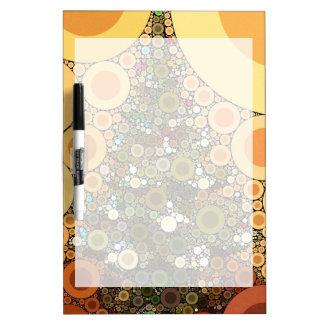Christmas Tree Happy Holidays Circle Mosaic Dry-Erase Board