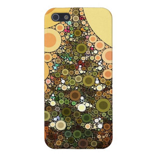 Christmas Tree Happy Holidays Circle Mosaic Case For iPhone 5