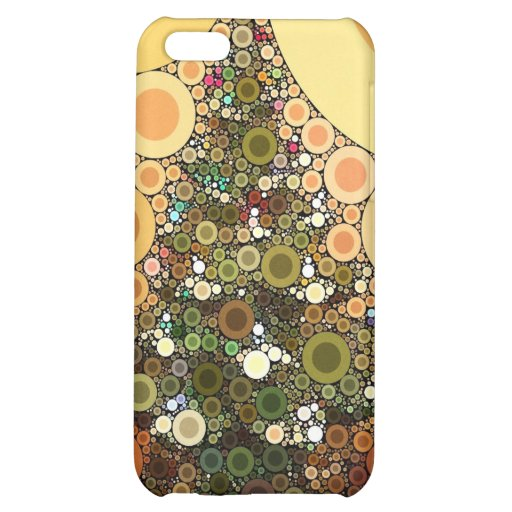 Christmas Tree Happy Holidays Circle Mosaic iPhone 5C Cases