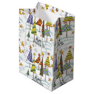 Christmas Tree Happy Holidays Gift Bag Medium Gift Bag