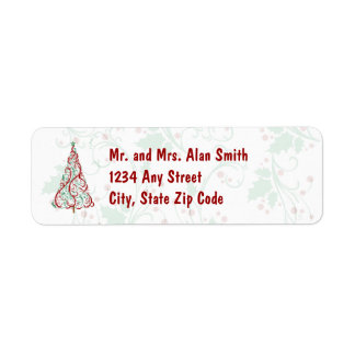 Christmas Tree Holiday Address Labels