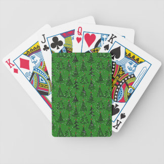 Christmas Tree Holiday Pattern Bicycle Playing Cards