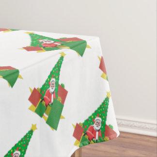 Christmas Tree Holiday Santa Tablecloth