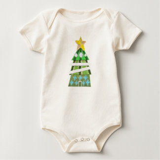 Christmas Tree Hotel No Background Organic Babygro Baby Bodysuit