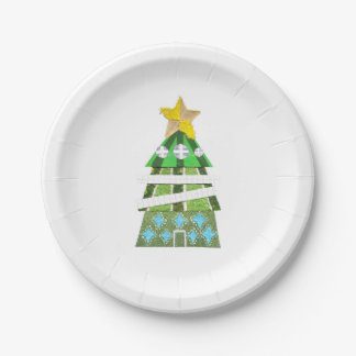 Christmas Tree Hotel Paper Plate
