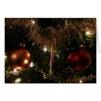 Christmas Tree II Holiday Candy Cane and Tinsel Card