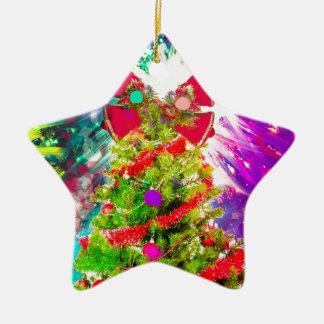 Christmas Tree in full colors Ceramic Ornament