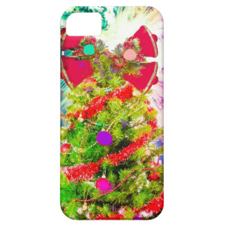 Christmas Tree in full colors iPhone 5 Covers