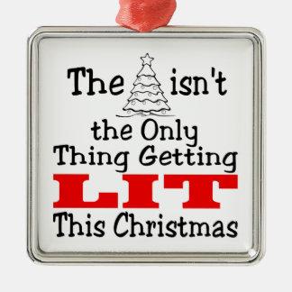 Christmas Tree Isn't Only Lit Metal Ornament