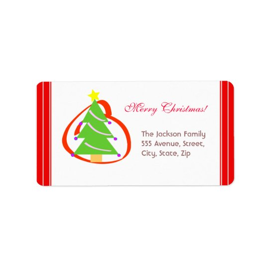 Christmas Tree Label