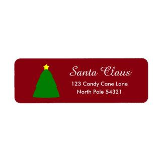 Christmas Tree Lable Return Address Label