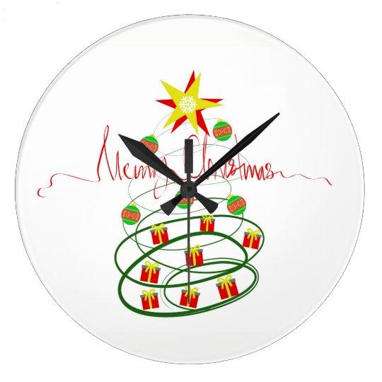 Christmas tree large clock