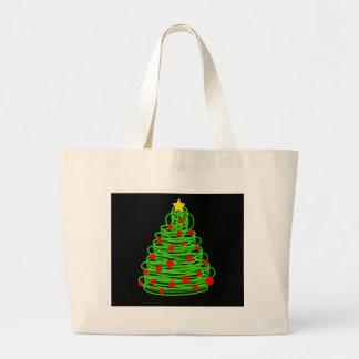 Christmas tree large tote bag