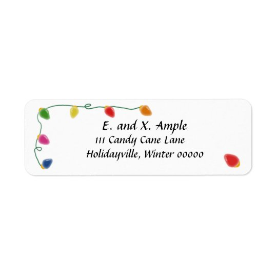 Christmas Tree Light Return Address Labels