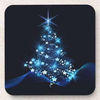 christmas tree lighting blue coaster