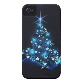 christmas tree lighting blue iPhone 4 Case-Mate case
