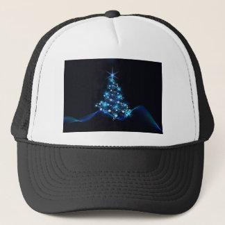 christmas tree lighting blue trucker hat