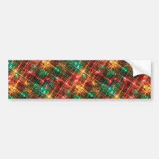 christmas tree lights bumper sticker