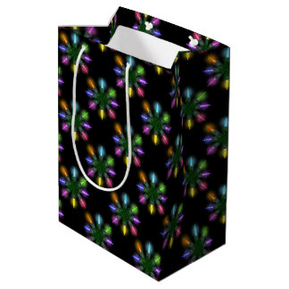 Christmas Tree Lights Pattern Medium Gift Bag
