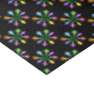 Christmas Tree Lights Pattern Tissue Paper