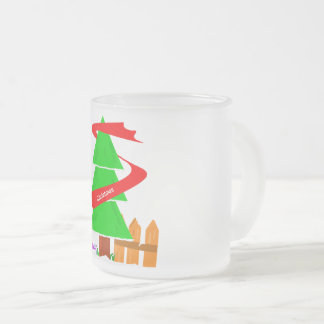 Christmas Tree Mag 2017 Frosted Glass Coffee Mug
