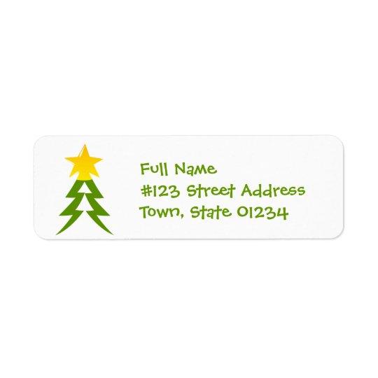 Christmas Tree Mailing Label Return Address Label