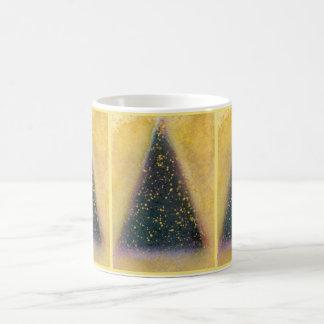 Christmas Tree Mug, green, gold Basic White Mug