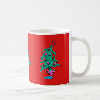Christmas Tree Mug- Red Coffee Mug