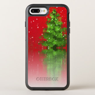Christmas Tree on a Red Background | Phone Case