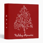 Christmas Tree on Red Holiday Memories 3 Ring Binders