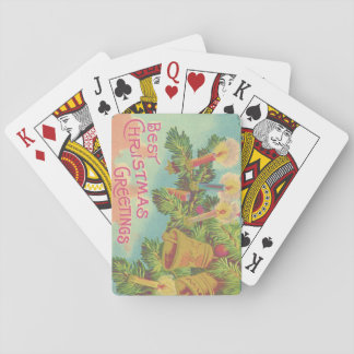 Christmas Tree Ornament Bell Candle Playing Cards