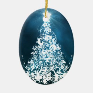 Christmas tree ornament oval