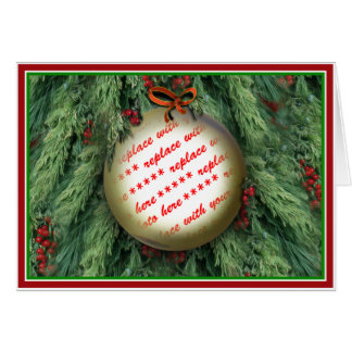 Christmas Tree Ornament Photo Frame Card