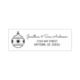 Christmas Tree Ornament Return Address Self-inking Stamp
