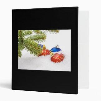 Christmas Tree Ornaments In Snow Vinyl Binders