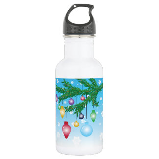 Christmas Tree Ornaments Water Bottle