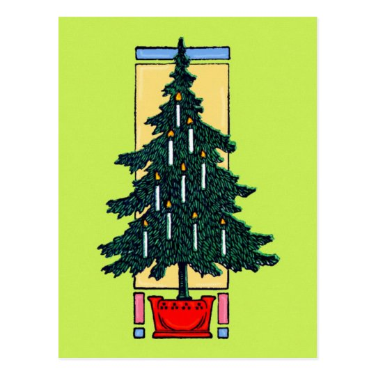 Christmas Tree Painting Postcard