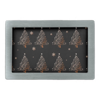 Christmas tree - pattern belt buckles