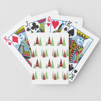 Christmas Tree Pattern Bicycle Playing Cards
